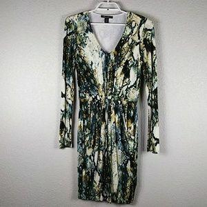 Kenneth Cole New York L/S Snake Skin Print Dress